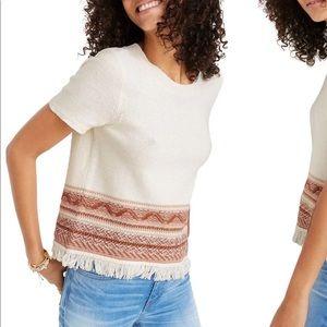 NWOT Madewell Knit Fringe Sweater Bohemian Top M